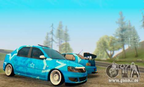Dacia Logan Blue Star für GTA San Andreas