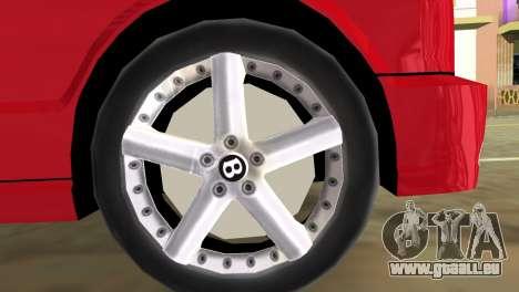 Bentley Arnage T 2005 für GTA Vice City zurück linke Ansicht