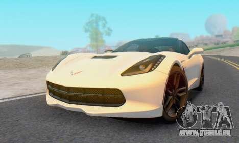 Chevrolet Corvette Stingray C7 2014 pour GTA San Andreas vue de droite