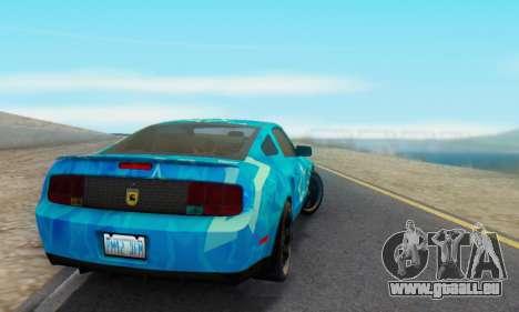 Ford Mustang Shelby Blue Star Terlingua pour GTA San Andreas sur la vue arrière gauche