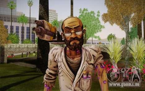 Le professeur Nakayama 2 из Borderlands pour GTA San Andreas troisième écran