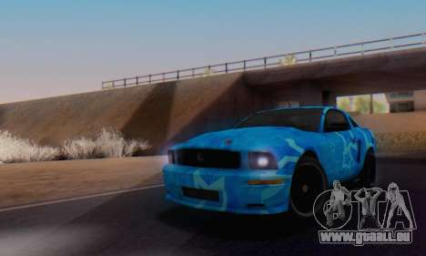 Ford Mustang Shelby Blue Star Terlingua pour GTA San Andreas vue de droite