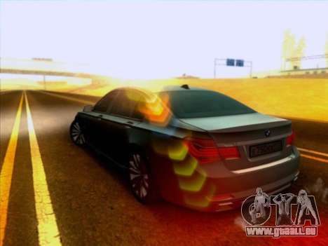 BMW 750li für GTA San Andreas zurück linke Ansicht