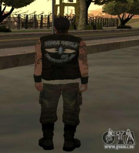 Motard de la part du club des Routes Anges pour GTA San Andreas troisième écran