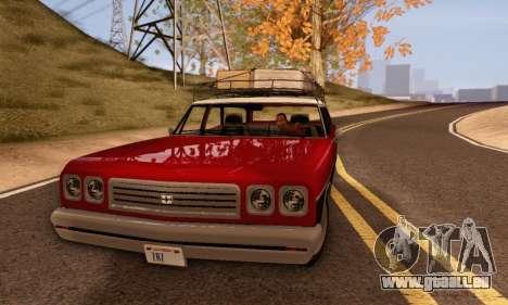 Dundreary Regina V1.0 pour GTA San Andreas sur la vue arrière gauche