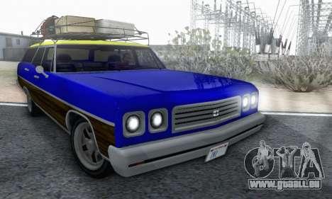 Dundreary Regina V1.0 pour GTA San Andreas vue de dessus