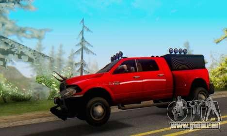 Dodge Ram 3500 Super Reforzada pour GTA San Andreas laissé vue