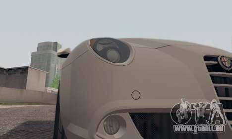 Afla Romeo Mito Quadrifoglio Verde pour GTA San Andreas moteur
