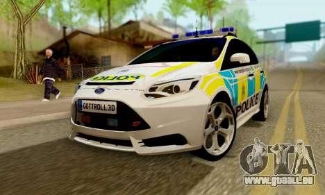 Ford Focus ST 2013 British Hampshire Police für GTA San Andreas