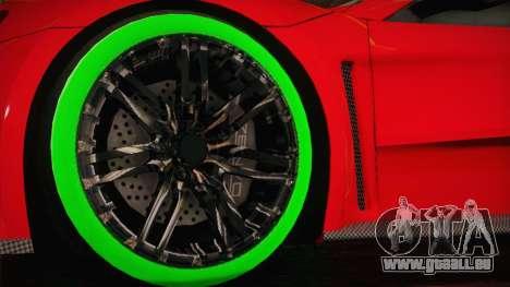 Zenvo ST1 SLow 2010 pour GTA San Andreas sur la vue arrière gauche