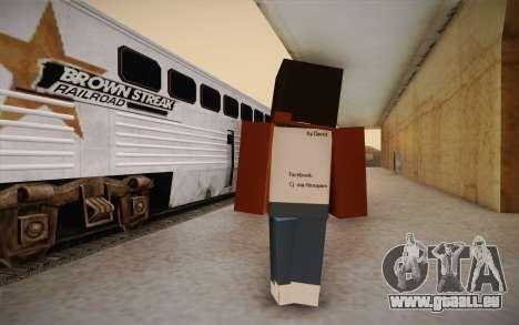 Cj Minecraft für GTA San Andreas zweiten Screenshot