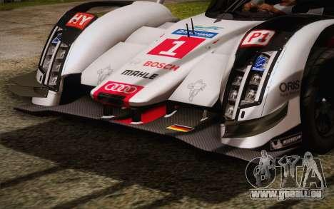Audi R18 E-tron Quattro 2014 für GTA San Andreas Innenansicht