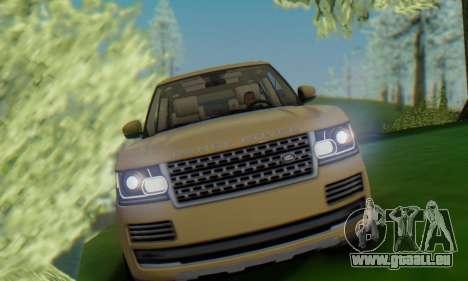 Range Rover Vogue 2014 V1.0 SA Plate für GTA San Andreas rechten Ansicht
