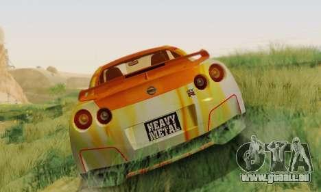 Nissan GTR Heavy Fire für GTA San Andreas linke Ansicht