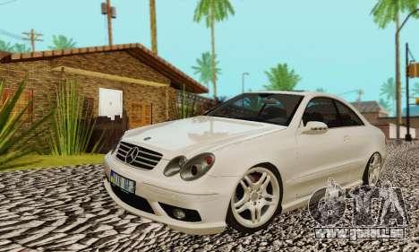 Mercedes-Benz CLK55 AMG 2003 pour GTA San Andreas salon