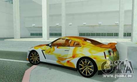 Nissan GTR Heavy Fire für GTA San Andreas zurück linke Ansicht