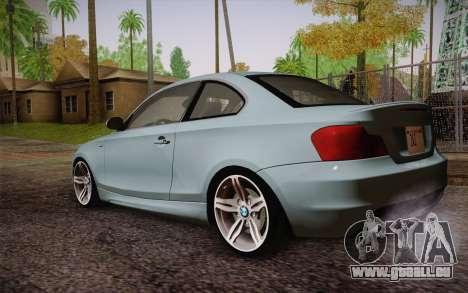 BMW 135i Limited Edition pour GTA San Andreas laissé vue