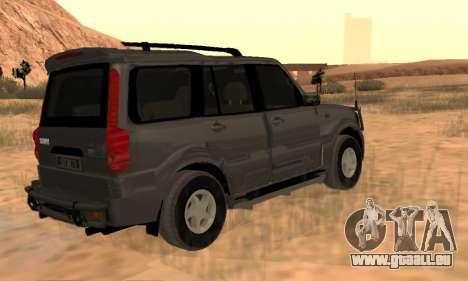 Mahindra Scorpio für GTA San Andreas Rückansicht
