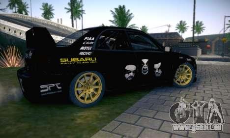 Subaru Impreza WRC STI Black Metal Rally für GTA San Andreas Motor