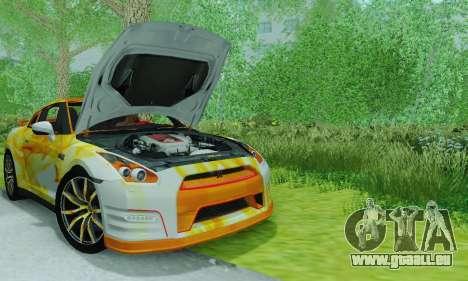 Nissan GTR Heavy Fire für GTA San Andreas rechten Ansicht