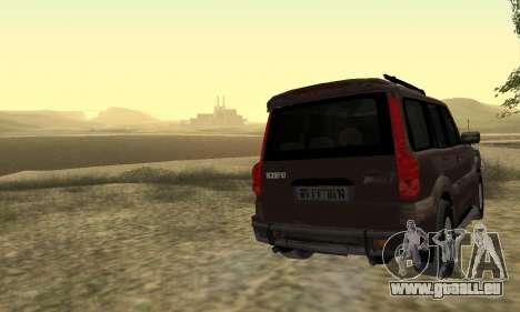 Mahindra Scorpio für GTA San Andreas obere Ansicht