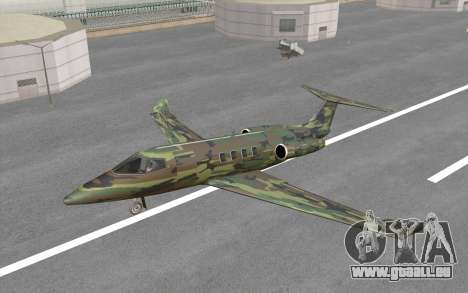 Camouflage Shamal pour GTA San Andreas vue arrière