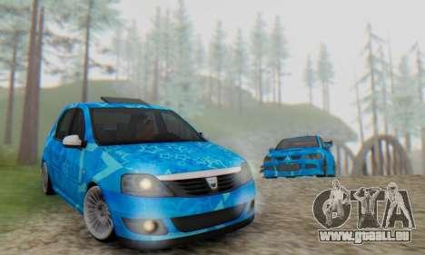 Dacia Logan Blue Star für GTA San Andreas Seitenansicht