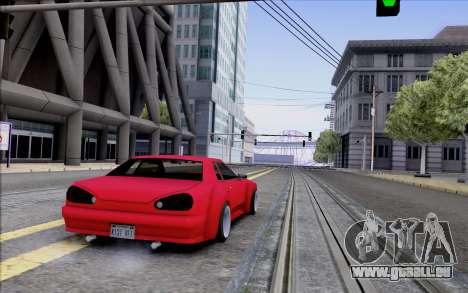 Elegy Rocket Bunny pour GTA San Andreas vue de droite