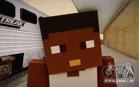Cj Minecraft pour GTA San Andreas troisième écran