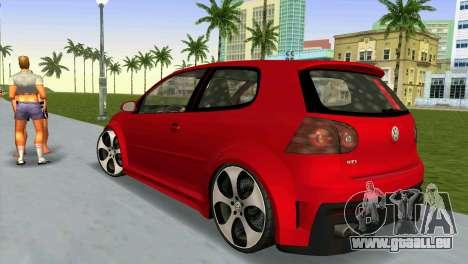 Volkswagen Golf GTI W12 pour une vue GTA Vice City de la gauche