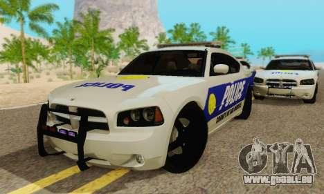 Pursuit Edition Police Dodge Charger SRT8 pour GTA San Andreas vue intérieure