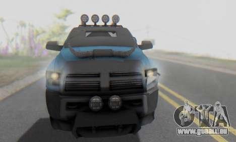 Dodge Ram 3500 Super Reforzada pour GTA San Andreas vue de côté