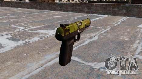 Pistolet FN Cinq à sept Woodland pour GTA 4 secondes d'écran