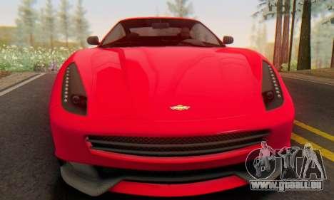 Dewbauchee Massacro 1.0 pour GTA San Andreas laissé vue