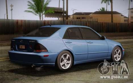 Lexus IS300 2003 pour GTA San Andreas laissé vue