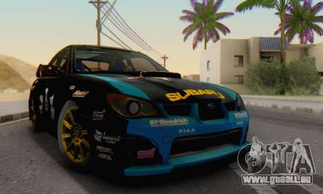 Subaru Impreza WRC STI Black Metal Rally pour GTA San Andreas vue de droite
