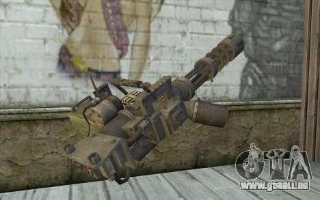Minigun avec un magasin pour GTA San Andreas deuxième écran