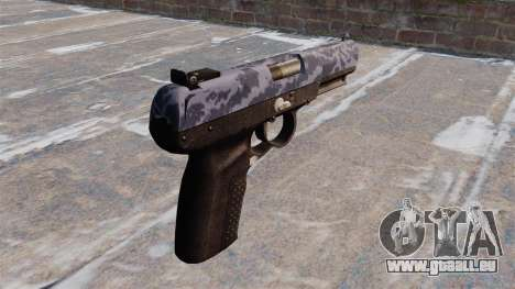 Pistolet FN Five-seveN Bleu Camo pour GTA 4 secondes d'écran