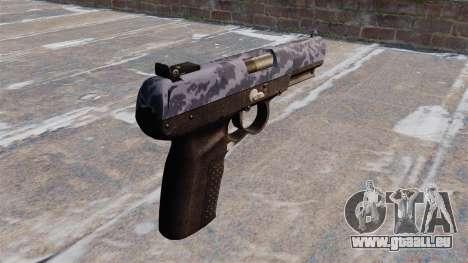 Pistole FN Five-seveN Blue Camo für GTA 4 Sekunden Bildschirm