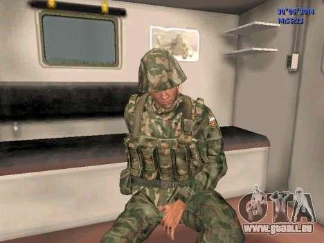 Die Kämpfer der Russischen Armee für GTA San Andreas her Screenshot