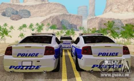 Pursuit Edition Police Dodge Charger SRT8 pour GTA San Andreas vue de droite