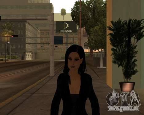 Black Dressed Girl für GTA San Andreas zweiten Screenshot