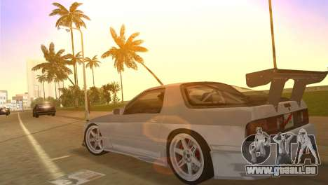Mazda Savanna RX-7 III (FC3S) pour une vue GTA Vice City de l'intérieur