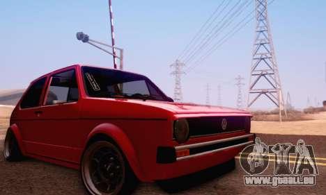 Volkswagen Golf Mk I Punk für GTA San Andreas Seitenansicht