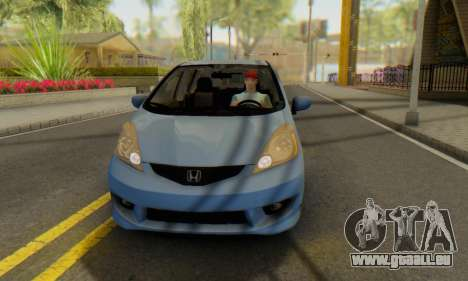 Honda Fit Stock 2009 für GTA San Andreas Innenansicht