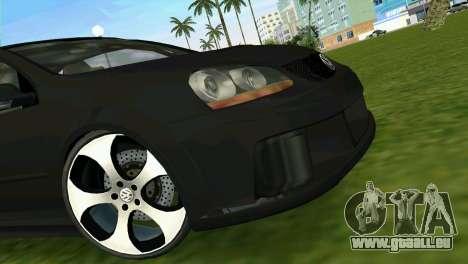 Volkswagen Golf GTI W12 pour GTA Vice City vue arrière