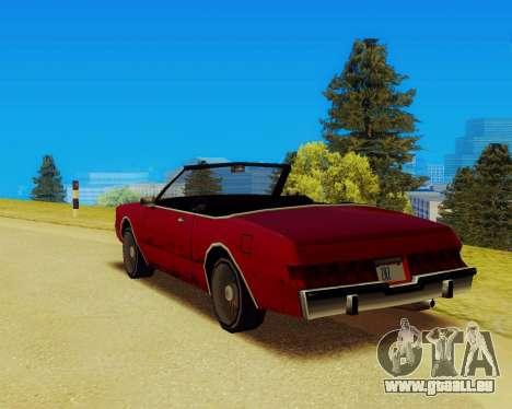 Majestueux Convertible pour GTA San Andreas laissé vue