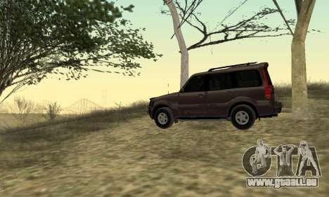 Mahindra Scorpio für GTA San Andreas rechten Ansicht