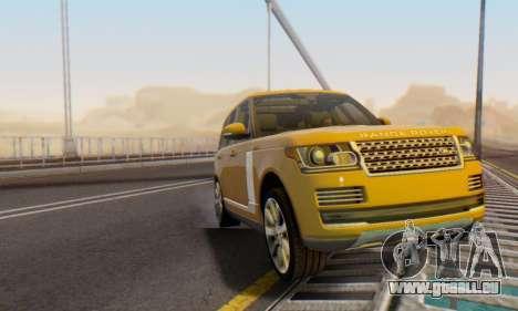 Range Rover Vogue 2014 V1.0 Interior Nero pour GTA San Andreas vue de dessus