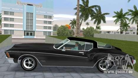 Buick Riviera 1972 Boattail pour GTA Vice City sur la vue arrière gauche
